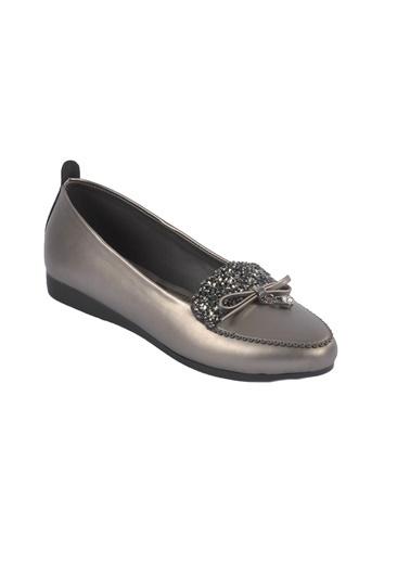 Mhd 2668 Rose Kadın Günlük Ayakkabı Gümüş